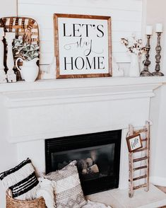 Farmhouse living room fireplace 16 Ideas for 2019 Rustic Fireplace Decor, Rustic Fireplaces, Rustic Decor, Fireplace Ideas, Fireplace Bookshelves, Farmhouse Fireplace, Country Fireplace, Fireplace Mantles, Fireplace Mirror