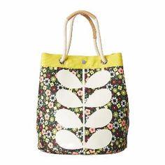 be7fb15f1b5d Orla Kiely - Flower Bloom Canvas Duffle Bag - Large
