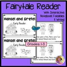 This 15 page blackline early reader is a rewritten mini version of the old tale of Hansel and Gretel. There are many versions of this tale, so I used the storyline I remembered from my childhood. My focus for this little reader is sequencing and of course the triumph of good over evil.