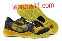 New Womens Nike Kobe 8 Black Maize Shoes Basketball Shoes Store Kd 6 Shoes, Nike Kobe Shoes, Nike Kd Vi, Nike Zoom Kobe, Kevin Durant Basketball Shoes, Nike Basketball Shoes, Sports Shoes, Nike Lebron, Lebron 11