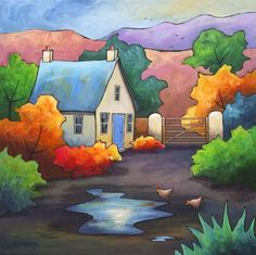 Puddle Cottage by Gillian Mowbray