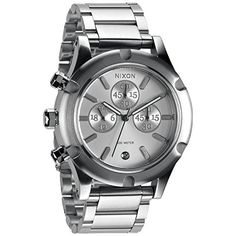 Women's Wrist Watches - Nixon A354130 camden chrono silver dial silver stainless steel band women watch NEW >>> For more information, visit image link.
