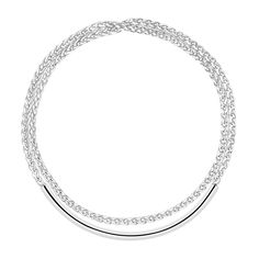Collier en argent massif. Collection Duo Complice - 1 625 $ @christofle Sterling silver necklace. Duo Complice Collection