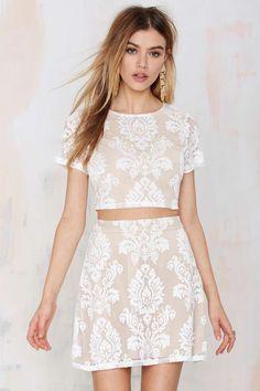 Mariana Embroidered Skirt | Shop Clothes at Nasty Gal!Sensual .fashion#cool#beauty. @erikaboveri. -erika boveri. @erika boveri. #erika boveri