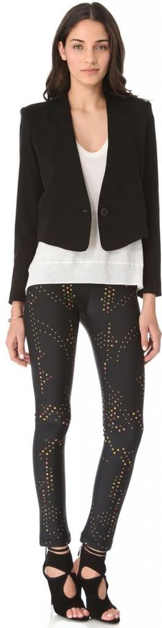 """Cynthia Rowley Dot Neoprene Leggins  OKAY...I have an """"older woman"""" version of this one..i could do...almost!!"""