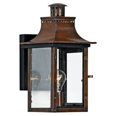 Quoizel Chalmers 1 Light 16 Tall Outdoor Wall Sconce with Clear Glass Aged Copper Outdoor Lighting Wall Sconces Outdoor Wall Sconces Outdoor Hanging Lights, Outdoor Light Fixtures, Outdoor Wall Lantern, Outdoor Wall Sconce, Outdoor Wall Lighting, Outdoor Walls, Wall Sconce Lighting, Wall Sconces, Exterior Lighting