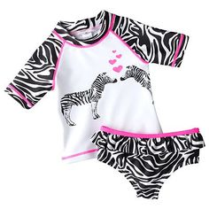 Carter's Zebra 2-pc. Rash Guard Set - Baby $21.00