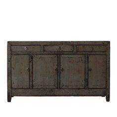 Antique Buffet 4door 3drawers Grey