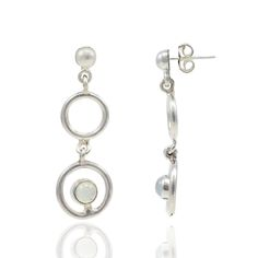 Silvestoo India White Moonstone Gemstone 925 Sterling Silver Earring PG-100753  https://www.amazon.co.uk/dp/B06XWY9G5Z