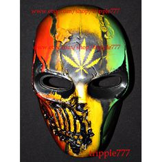 Army of two mask, Paintball airsoft mask, Halloween mask, Steampunk mask, Halloween costume & Cosplay mask, R2 Bob marley MA135