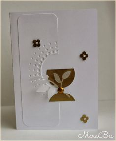 A chalice – Invitation 2020 First Communion Cards, Quilling Craft, Die Cut Cards, Scrapbook Cards, Scrapbooking, Graduation Cards, Creative Cards, Kids Cards, Greeting Cards Handmade
