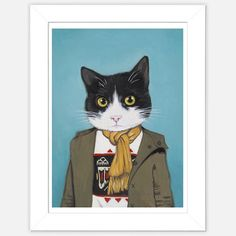 Fab.com   Framed Cat Print Lupe