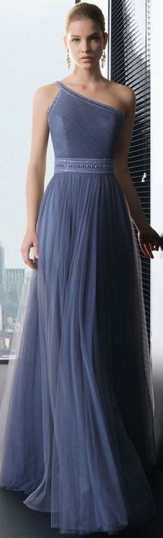 One-shoulder bridesmaid's, elegant dress