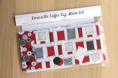 DIY Coffee Cup Sleeve Sewing Kit - Sewing Thread and Buttons - Ready to Ship by CraftyStaci