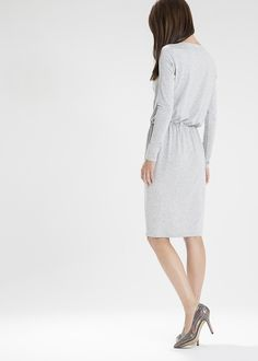 Knitted dress with a gold ornament - you will love it!