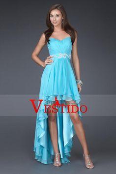 2015 Colección de novia vaina / columna de gasa asimétrico vestidos de baile por…