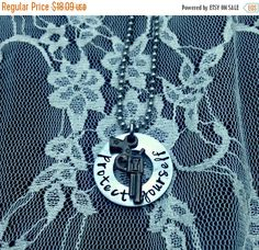 Gun Necklace, 2nd Amendment, Gun Rights, Self Defense, constitution rights, republican party, weapons,firearms,hand stamped,Protect Yourself
