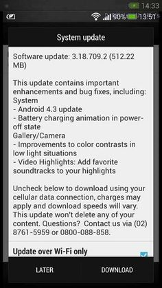 HTC One Getting Android 4.3