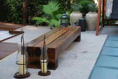 Como se começa uma FAMÍLIA: Julho 2012 Madeira Natural, Cafe Interior, Outdoor Furniture, Outdoor Decor, Outdoor Ideas, Sweet Home, Wood, Home Decor, Gardening