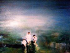 Carmen Moreno, DIE KINDER, Öl auf Leinen, 80 x 100 cm