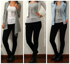 Viva el Glamour!: Outfits basicos para la oficina - Otoño / Invierno