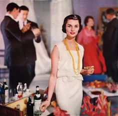 Vintage ad MARTINI vermouth 1958 cocktail advert