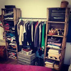 "#dressing www.lartdelacaisse.fr #storage #organisation ""modulable #rangement #fringue"