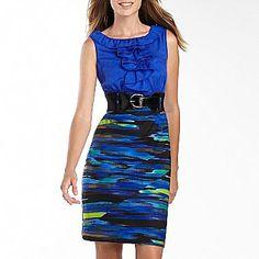 Alyx® Streak Print Sheath Dress - jcpenney