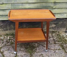 mid century solid teak tea trolley by Remploy | eBay