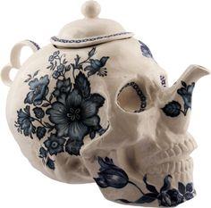 skeleton tea pot