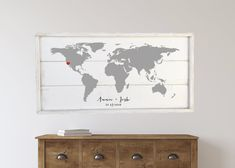 Excited to share this item from my shop: World Map sign, custom map sign, framed shiplap wood sign Heart Location, Shiplap Wood, Pantry Sign, Wood Wedding Signs, Home Decor Signs, Custom Map, Wedding In The Woods, Solid Pine, Wooden Signs