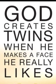 as twins we love this !