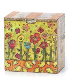 Take a look at this Flowers Box Wall Art by DEMDACO on #zulily today ($23.00)  $10.00
