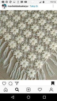 Hulyasya kaptı 🌹 diy and crafts Crochet Poncho Patterns, Shawl Patterns, Knitted Shawls, Crochet Motif, Crochet Shawl, Crochet Designs, Crochet Yarn, Hand Crochet, Crochet Ideas