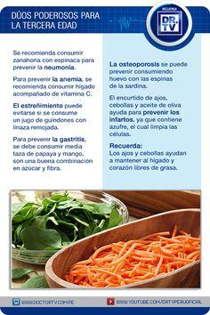 Aprenda cuáles son los alimentos ideales para las personas de la tercera edad.
