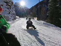 Rodelglück mit Alpenblick: die Schittelbahn zwischen Preda und Bergün in Graubünden