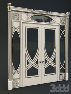 3DDD Model - декоративный портал в стиле Арт Деко