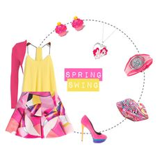 """Spring Swing"" by farilink ❤ liked on Polyvore featuring WearAll, Kenzo, B Brian Atwood and My Little Pony"