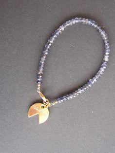 """Water"" - Blue iolite bracelet"