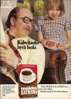 Tässä kaikilta neljältä kaupan ryhmittymältä kahvimainoskuvia aikausilehdistä,  ylivoimaisesti eniten löytyi SOK:n mainontaa, kakkosena TU... Old Advertisements, Advertising, Old Commercials, Good Old Times, Magazine Articles, Old Pictures, Along The Way, Vintage Ads, Salvador