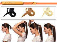 how to Wrap Around Clip In Human Hair Ponytail Extensions