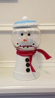 flower pot snowman :)!!!!!! so cute!!!!!