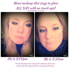Primed with glorious face and eye primer, Wearing 3D mascara, precision eye liner, Pigments used are sexy, fiesty and devious