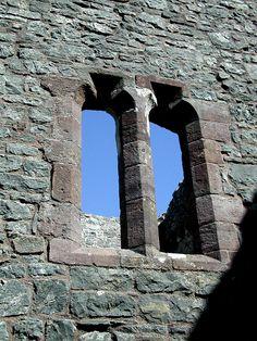 Window - Carreg Castle, Wales http://www.castlewales.com/carreg.html