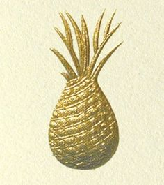 gold pineapple symbol of #hospitality