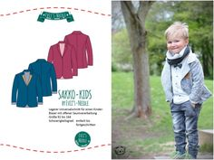 """Ebook Blazer """"SAKKO-Kids"""" by EvLi's-Needle Blazer, Diy And Crafts, Sewing, Books, Kids, Shirts, Clothes, Outfit, Fitness"""