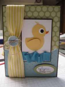 lil' duckie baby card