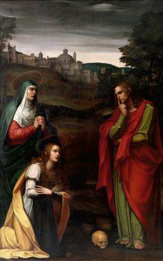 Juan Sariñena (1545-1619) Calvary with the Virgin Mary, Mary Magdalene, and Saint John (lost crucifix) Museum of Fine Arts, Valencia, Spain