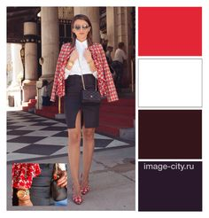 """The combination of colors"" by lyusilgrig ❤ liked on Polyvore featuring Carolina Herrera"