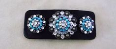Cute western hair clip with bling conchos. Genuine glass crystals.   www.pamperedcowgirl.com